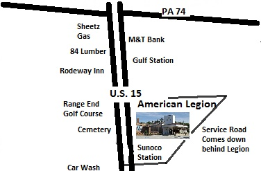 The American Legion Dillsburg Is Located At 301 U S Route 15 South Dillsburg Pa